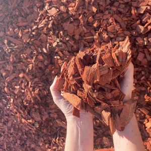 Cypress Hardwood Chip Mulch Red - Lo Pilato Bros Landscaping Supplies Canberra