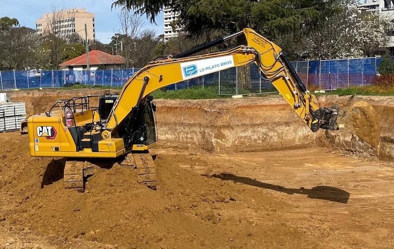 Excavator Hire - Lo Pilato Bros Landscaping Canberra